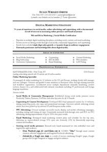 marketing manager resume keywords sle of marketing resume