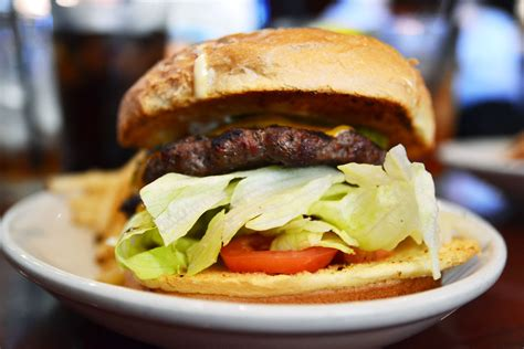 cuisine burger chain reaction a solid burger at bj 39 s restaurant and