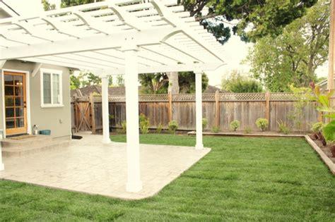 concrete patio with pergola deck patio