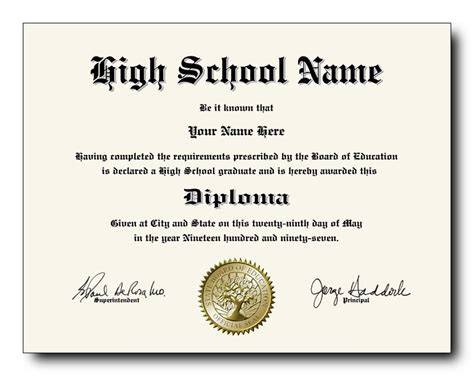 free high school diploma template with seal high school diploma template free printables unlimited
