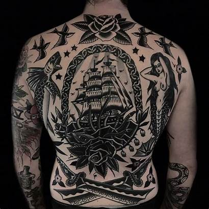 Traditional Tattoo Austin American Ship Backpiece Maples