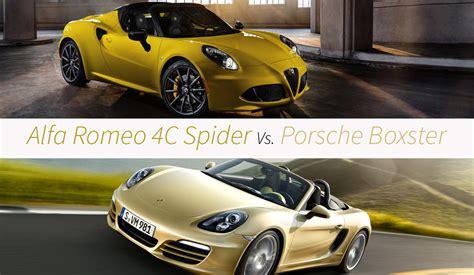 Alfa Romeo 4c Spider Vs. Porsche Boxster