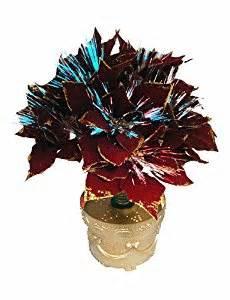 amazon com 20 quot pre lit color changing fiber optic red poinsettia artificial christmas plant