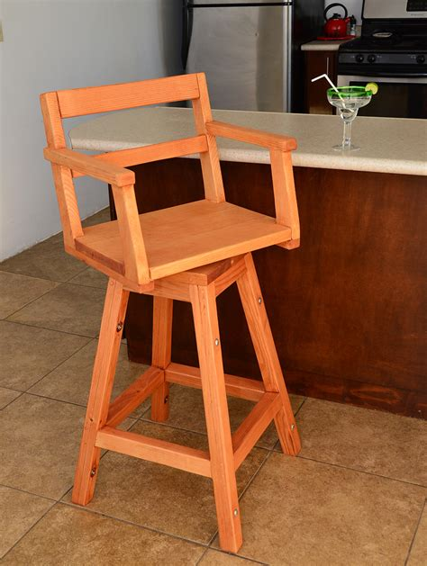 redwood captain s chair bar stool wooden bar stools