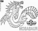 Invizimals Mosasaur Shadow Zone Coloring Creature Pintar Ombra Colorare Ausmalbilder Dragon Mare Ocean Malvorlagen Printable Disegni Maechtigen Authentische Flossen Kraeftigen sketch template