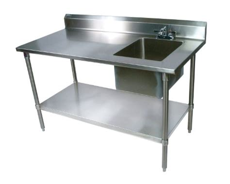 stainless steel food prep table with sink john boos ept6r5 3060gsk r stainless steel prep table with