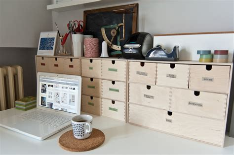 desk setup with ikea moppe chests blogged chiara