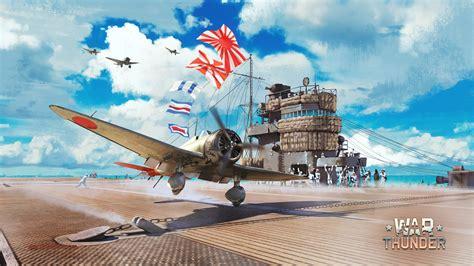 fonds d ecran war thunder avions porte avions ciel nuage jeux t 233 l 233 charger photo