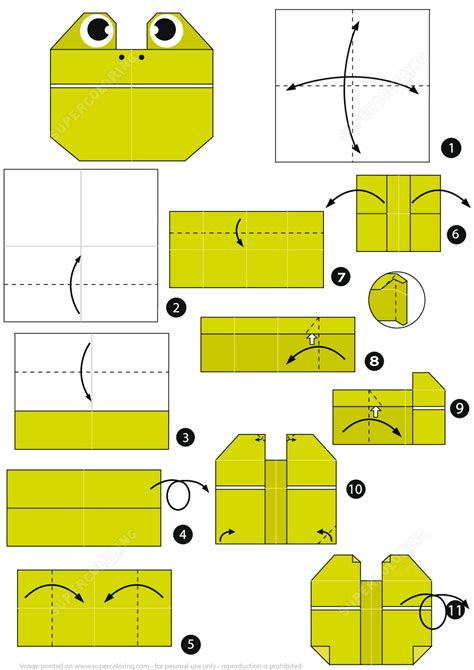 origami frog face instructions  printable papercraft