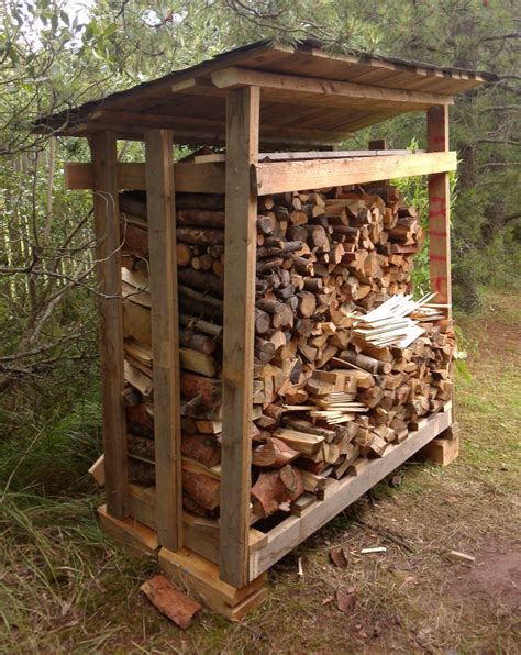diy generic design  shelter firewood canopy