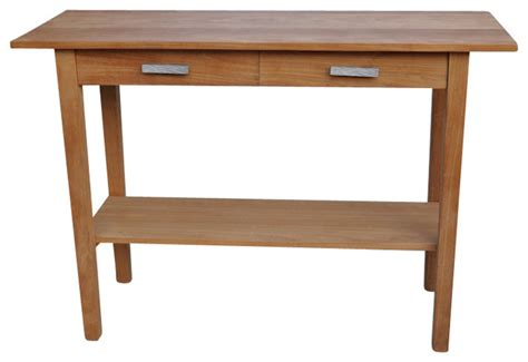 outdoor farmhouse dining table rectangular serving table with 2 drawers and 1 shelf