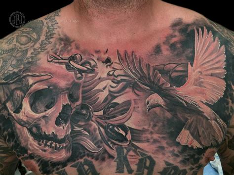 Pictures of Realistic Dove Tattoo Chest - #catfactsblog