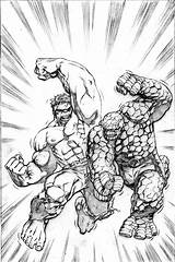 Marvel Hulk Coloring Pages Heroes Superman Printable Monster Classic Characters Comic Super Battle Adults Sheets Books Colouring Seems Combat Comics sketch template
