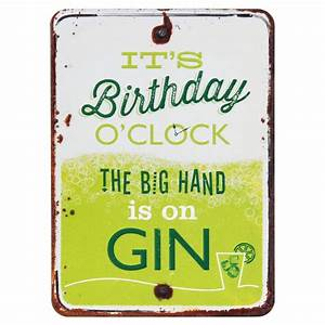 Grin and Tonic Birthday O'Clock Gin Card Temptation Gifts