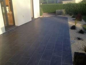 terrasse carrelage grismaison vip maison vip With photo terrasse carrelage gris