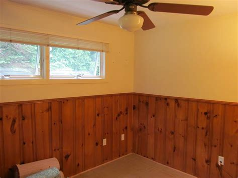 half wall painted wood paneling treatment certainly more