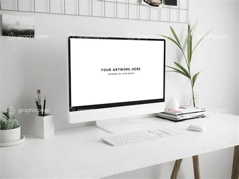 workspace scene mockup mac screen