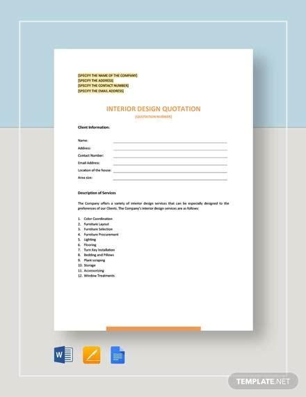 Design Quotation by 10 Design Quotation Sle Templates Ai Pdf