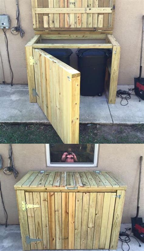garbage  shed built   weekend  stop pesky