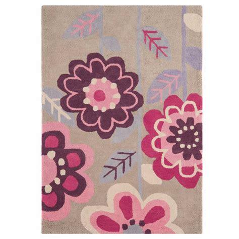 tapis de chambre fille tapis design à fleurs en coton pour chambre de fille par
