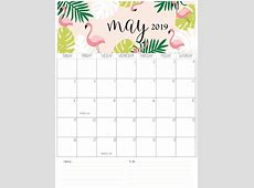 Download May 2019 A4 Calendar Template Free Printable