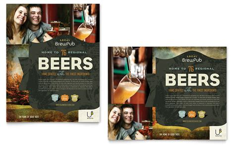 brewery brew pub poster template design