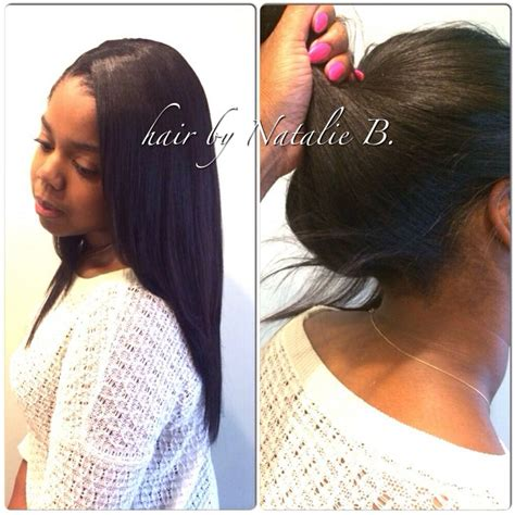 Sew In Ponytail Hairstyles by 1000 Images About Sew Ins On Hair