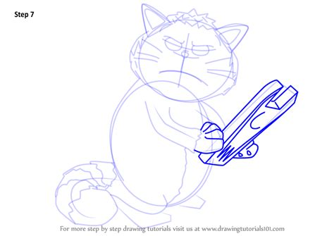 Learn How To Draw Mad Cat From Inspector Gadget (inspector