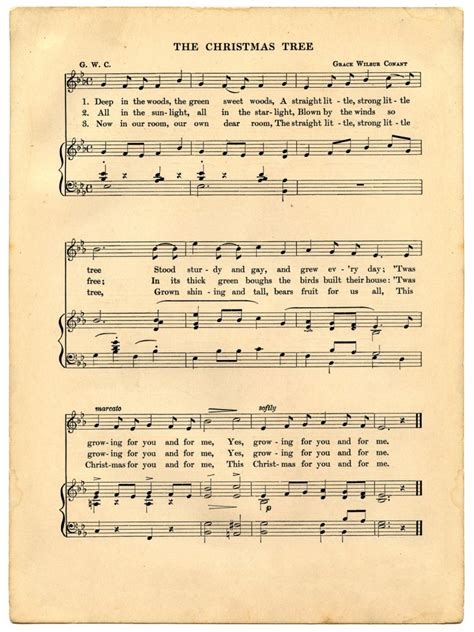 Download piano notes for popular songs in pdf. Vintage Christmas Sheet Music Printable - The Graphics Fairy