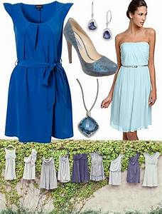 blue mismatched bridesmaid dresses blog | Bridesmaids ...