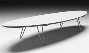 Table Ovale Scandinave : table basse shark ovale meuble scandinave bois et corian ~ Teatrodelosmanantiales.com Idées de Décoration