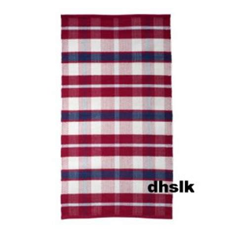 Red White And Blue Area Rugs by Ikea Amalia Red Blue White Plaid Check Area Rug Runner
