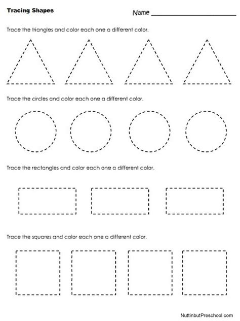 tracing shapes pediatric ot and art for kids shape