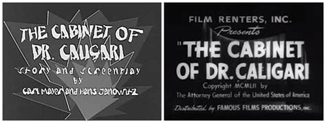 Cabinet Of Doctor Caligari Summary by The Cabinet Of Dr Caligari 1920 Of The Title
