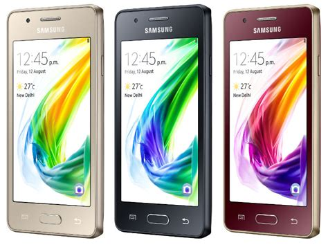 samsung z2 tizen powered smartphone with 4g volte launched