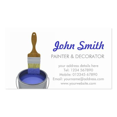 painting  decorating business card zazzle