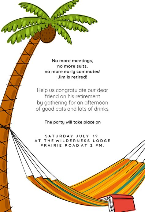 meetings retirement farewell party invitation