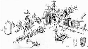 Exploded Engine Drawing