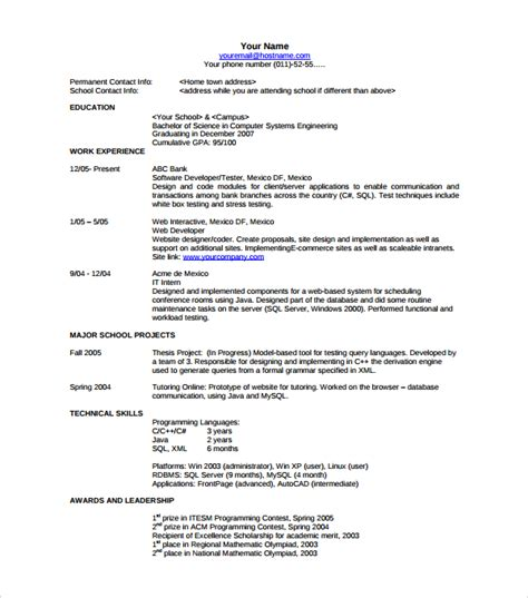 Modern Resume Formats by Sle Resume Template 53 In Psd Pdf Word