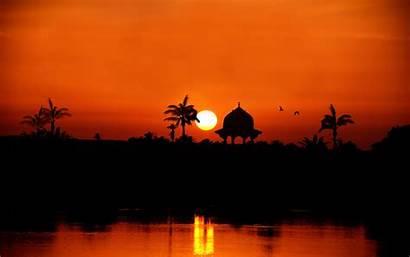 Egypt Nile Sunset River Wallpapers Silhouette Desktop