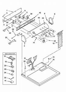 Top And Console Parts Diagram  U0026 Parts List For Model Ler8620pw1 Whirlpool