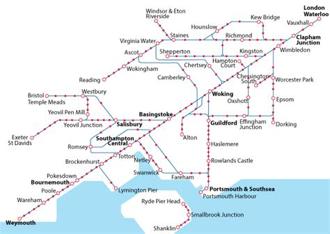 South West London Train Maps
