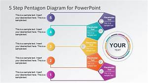 5 Steps Pentagon Shapes Powerpoint Diagram