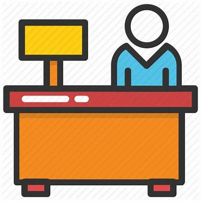 Clipart Clerk Receptionist Desk Office Icon Accounting