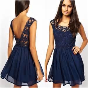robe de mariã e bleu robes élégantes robe bleu marine a dentelle