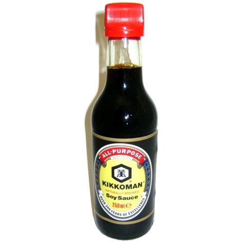 soy sauce ingredients buy kikkoman soy sauce 250ml shop online japanese food ingredients uk