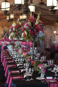 hot pink  blue wedding flowers  marriott ranch