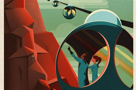 spacexs retro tourism posters invite   fabulous mars