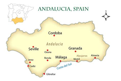 andalusia spain cities map  guide