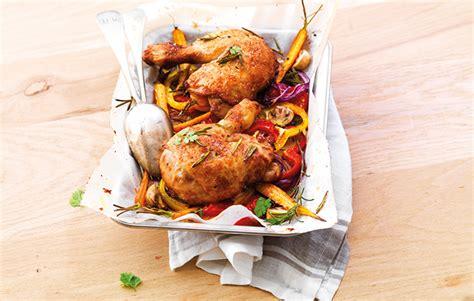cote cuisine fr3 recette le gaulois cuisses de poulet et légumes rôtis au four